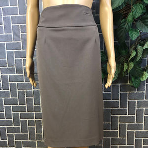 GRACE ELEMENTS WMS SZ 10 STRETCH BROWN SKIRT NWT